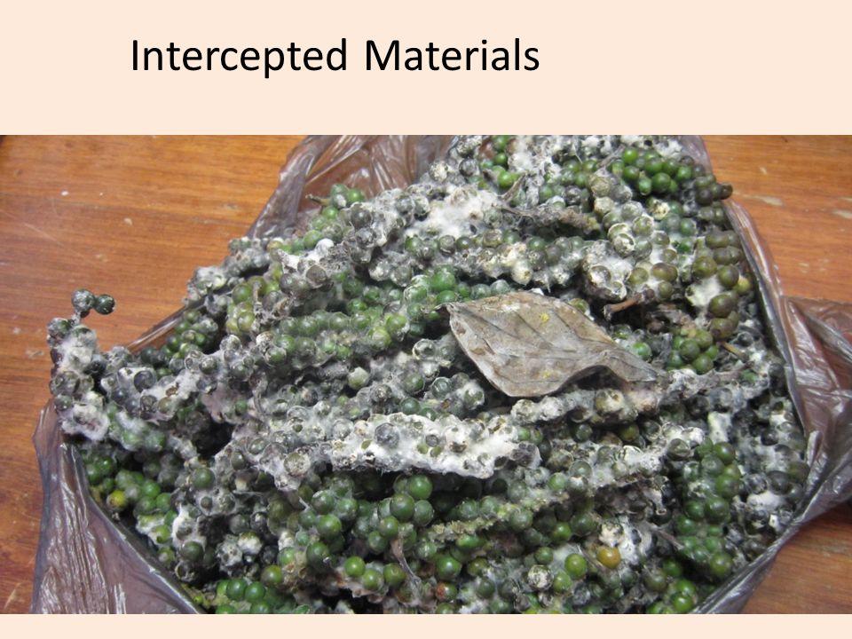 Intercepted Materials