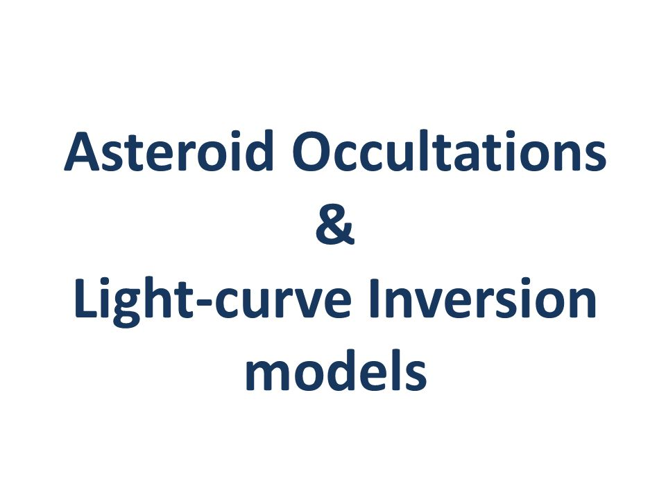 Asteroid Occultations & Light-curve Inversion models