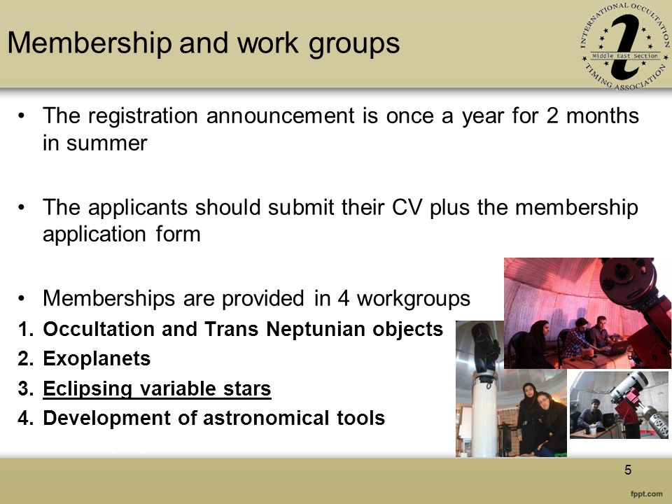 Membership and work groups