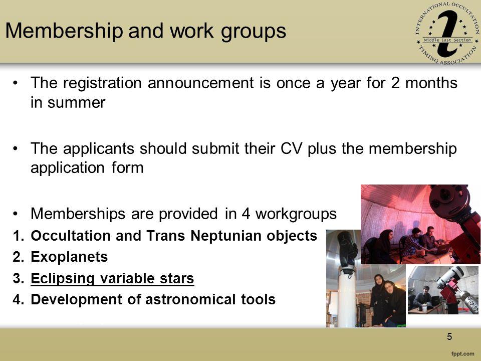 Membership and work groups