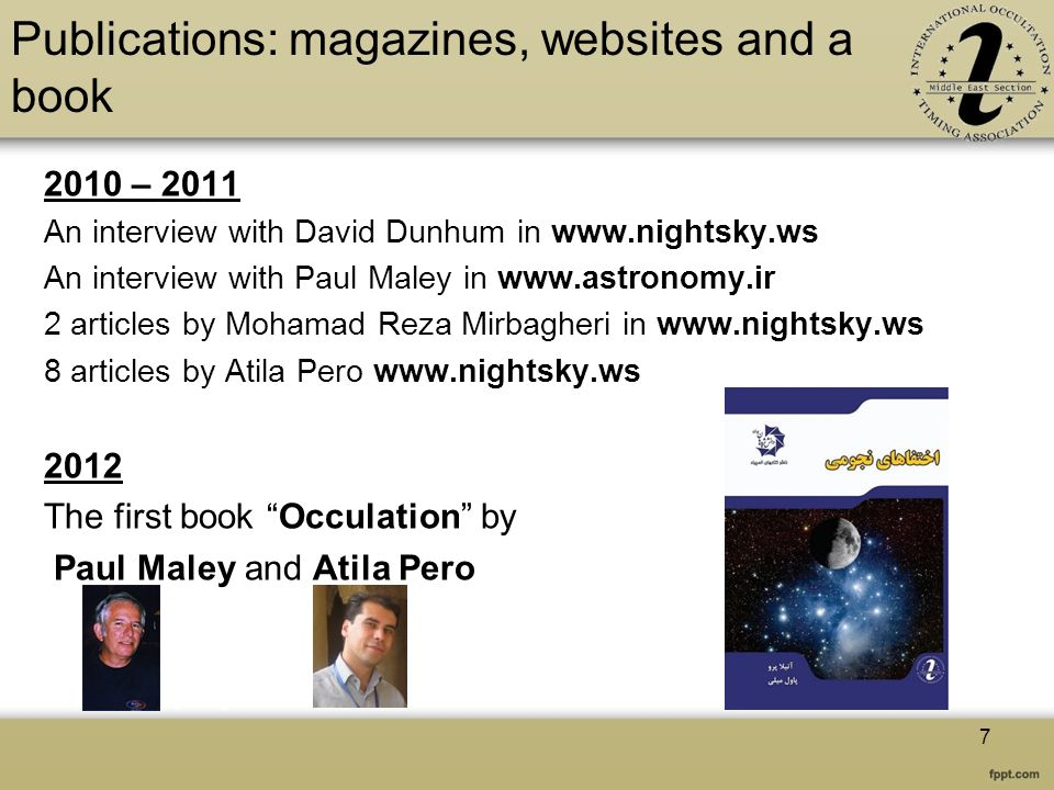 Publications: magazines, websites and a book