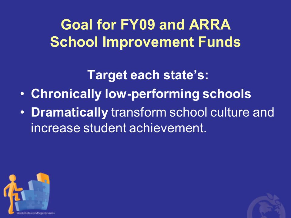 Goal for FY09 and ARRA School Improvement Funds
