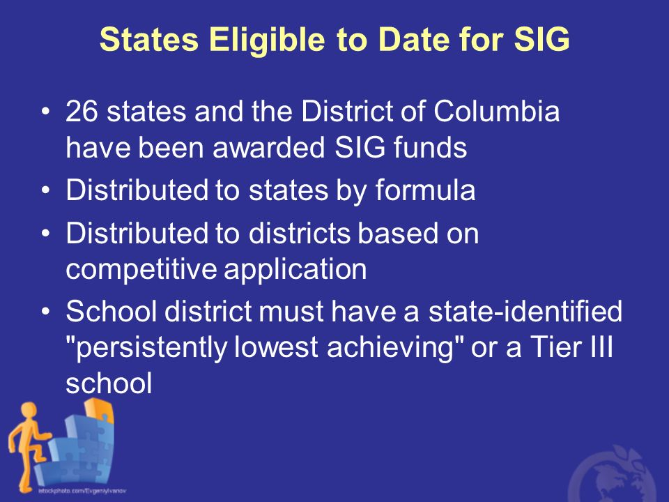 States Eligible to Date for SIG