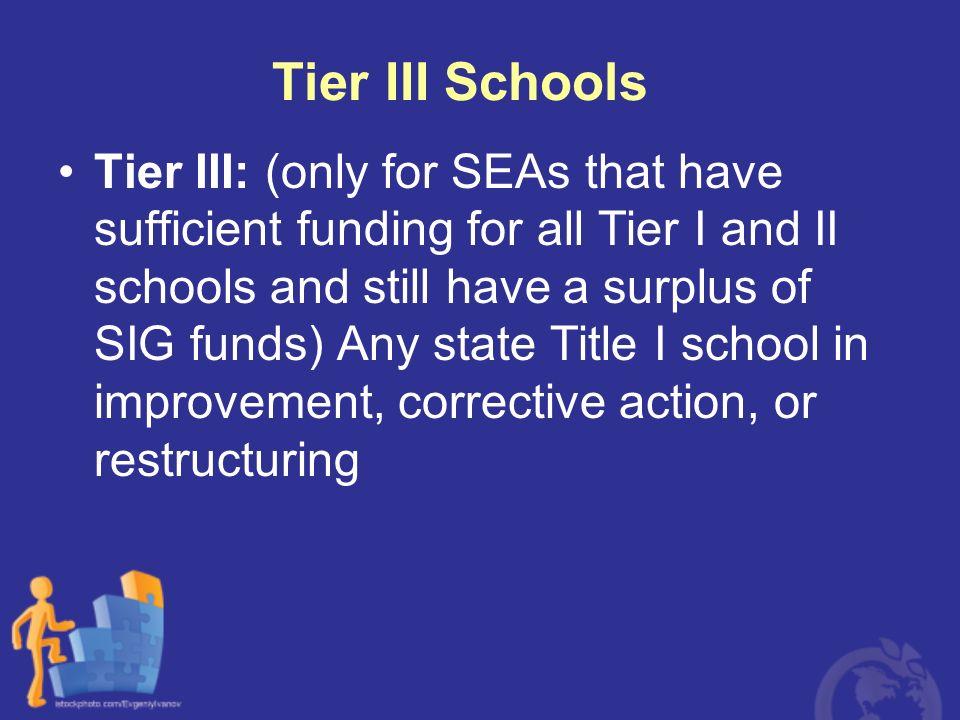 Tier III Schools
