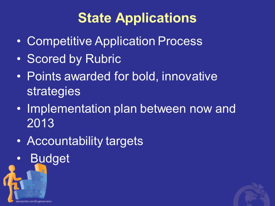 State Applications Competitive Application Process Scored by Rubric