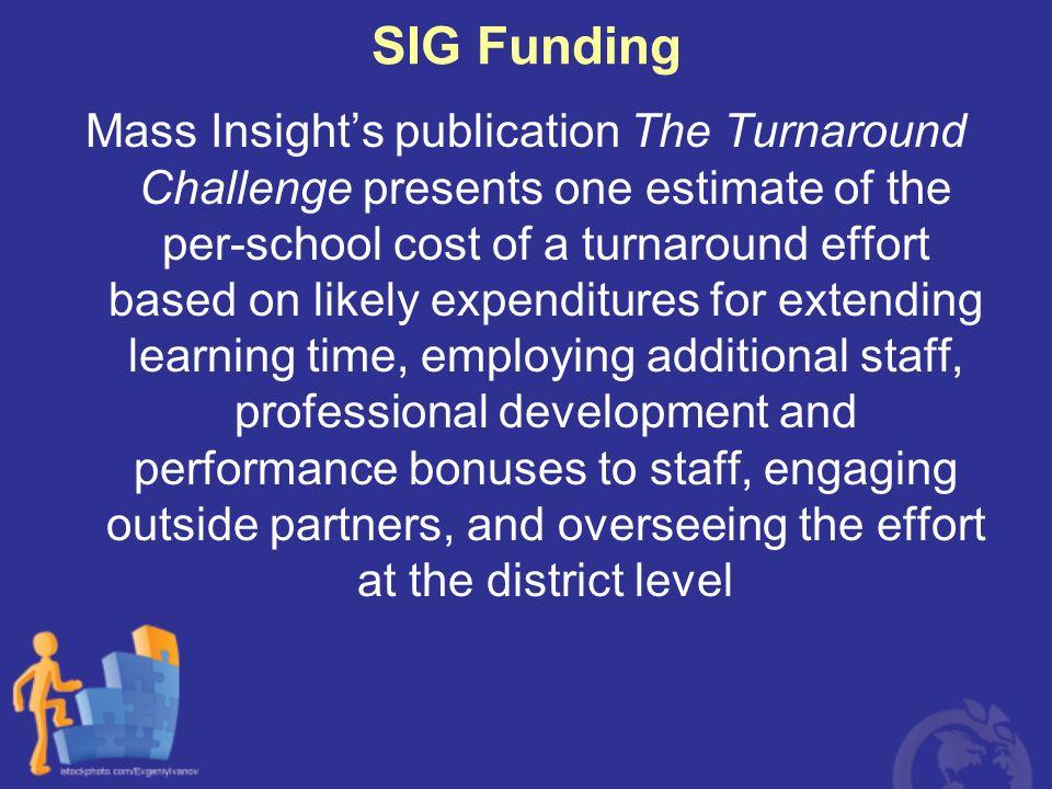 SIG Funding