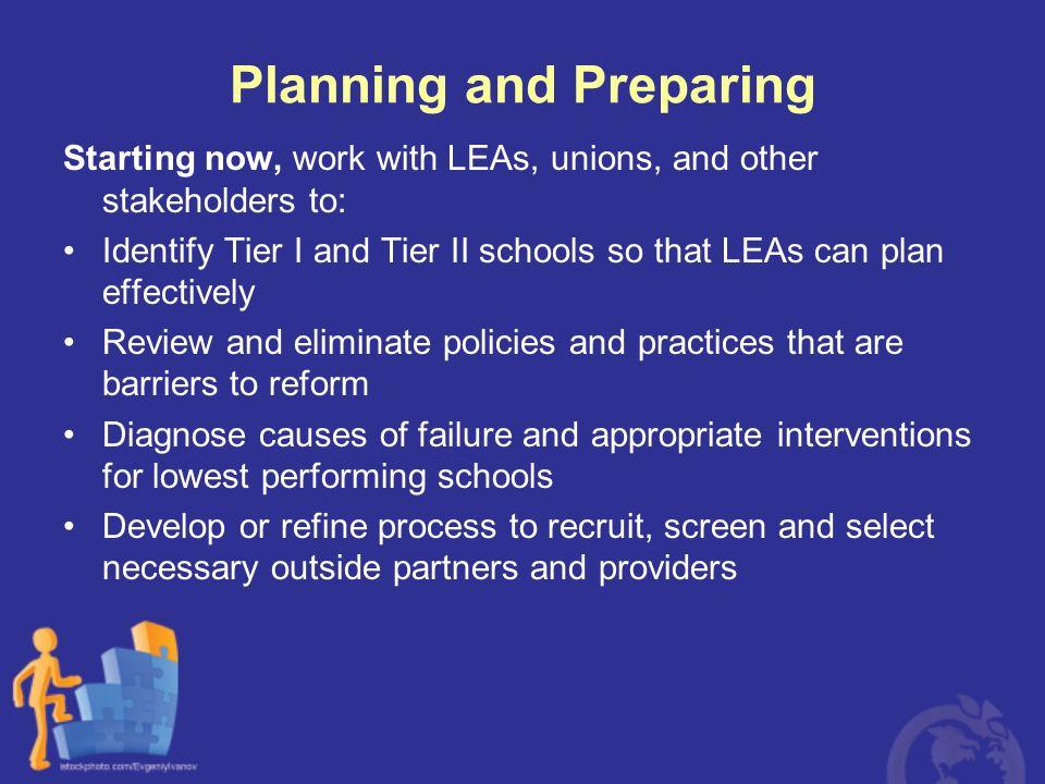 Planning and Preparing
