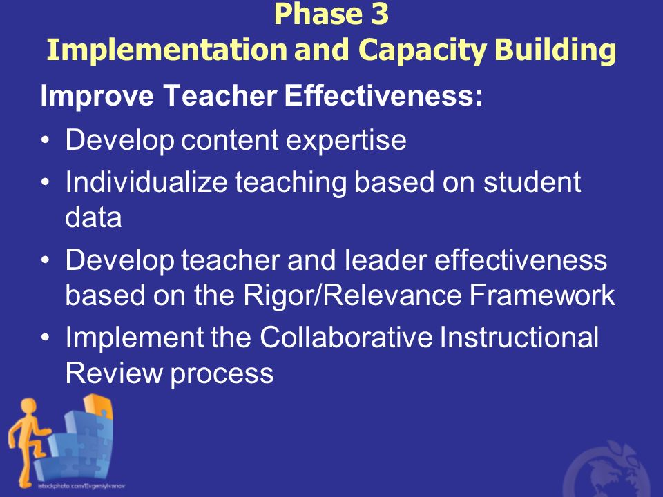 Phase 3 Implementation and Capacity Building