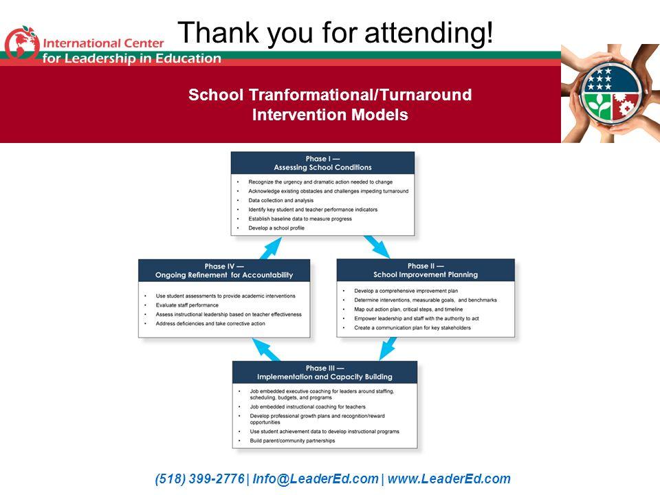 School Tranformational/Turnaround Intervention Models