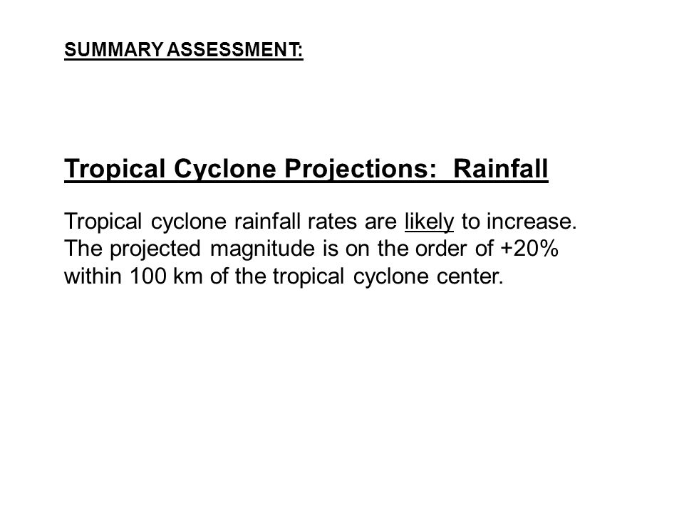 Tropical Cyclone Projections: Rainfall