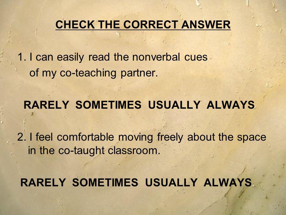 CHECK THE CORRECT ANSWER