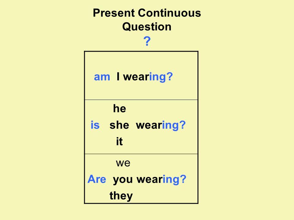 Present Continuous Question