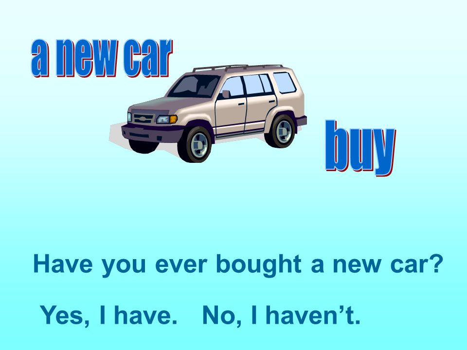 Have you ever bought a new car
