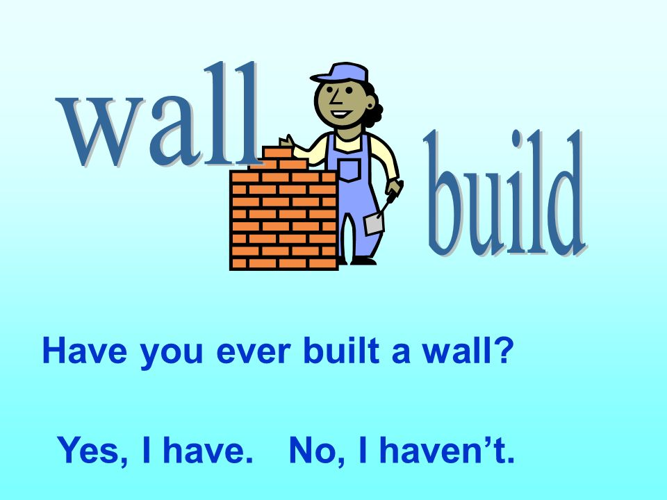 Have you ever built a wall