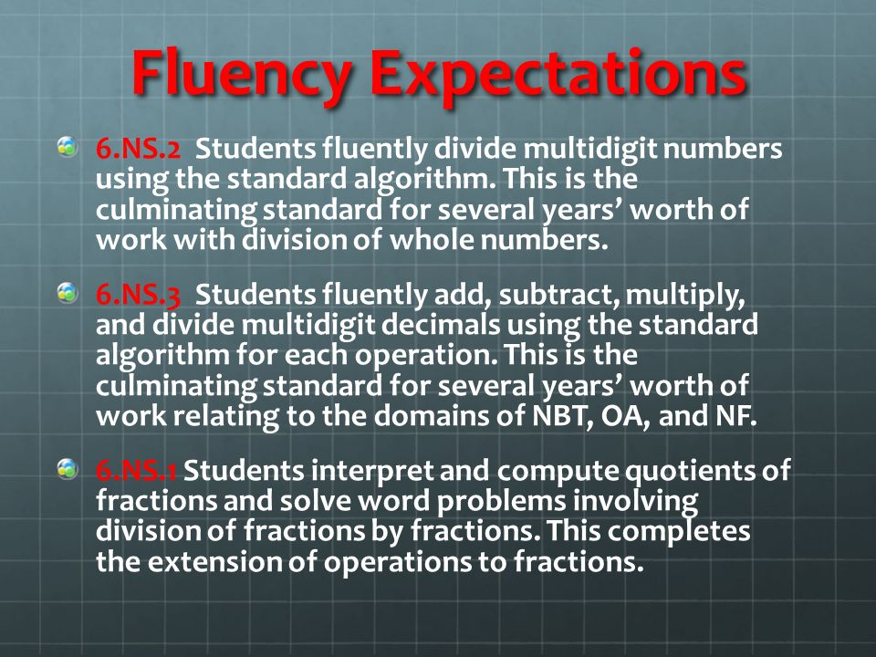 Fluency Expectations