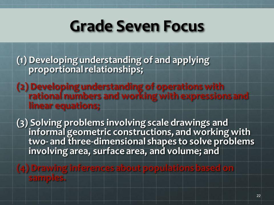 Grade Seven Focus