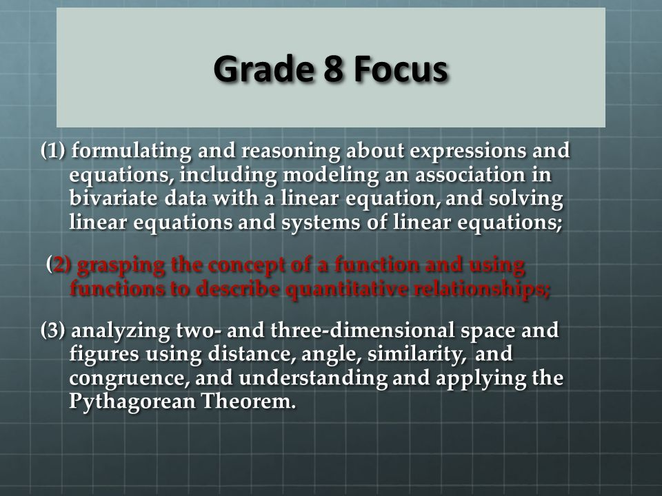 Grade 8 Focus
