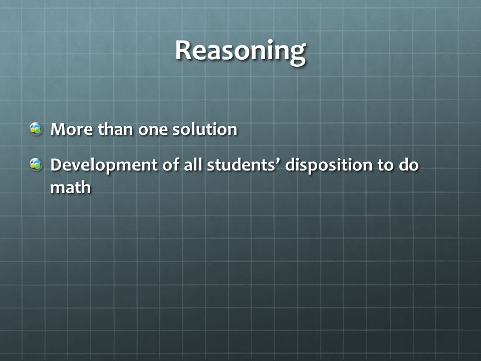 Reasoning More than one solution