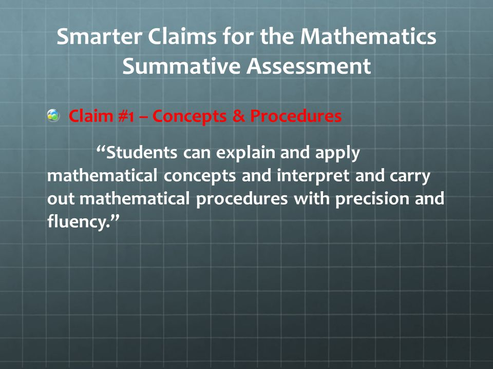Smarter Claims for the Mathematics Summative Assessment