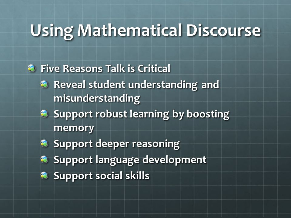 Using Mathematical Discourse