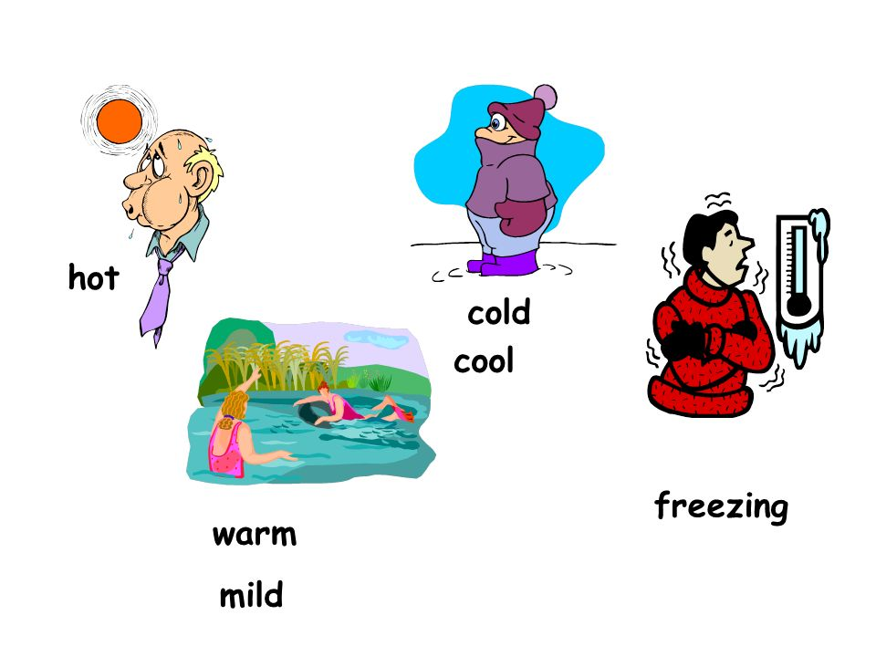 hot cold cool freezing warm mild