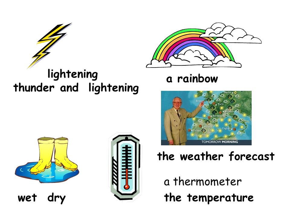lightening a rainbow. thunder and lightening. the weather forecast.