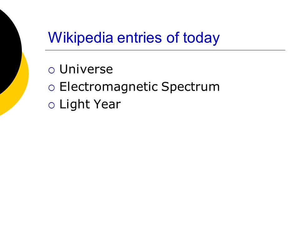 Wikipedia entries of today