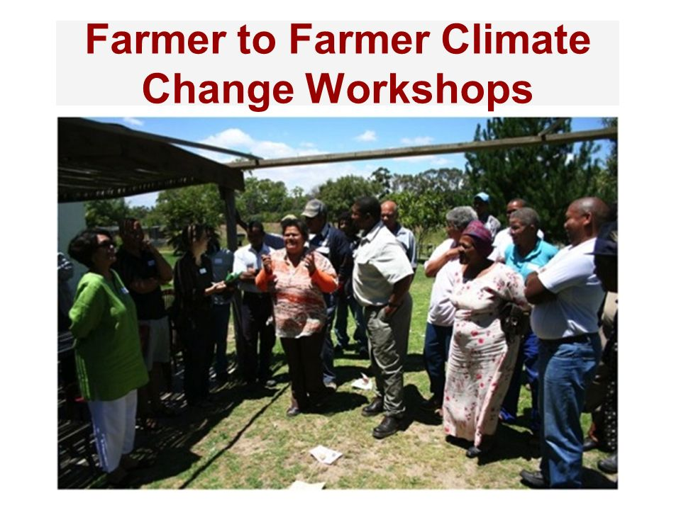 Farmer to Farmer Climate Change Workshops