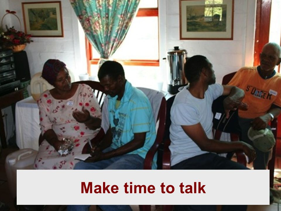 Make time to talk