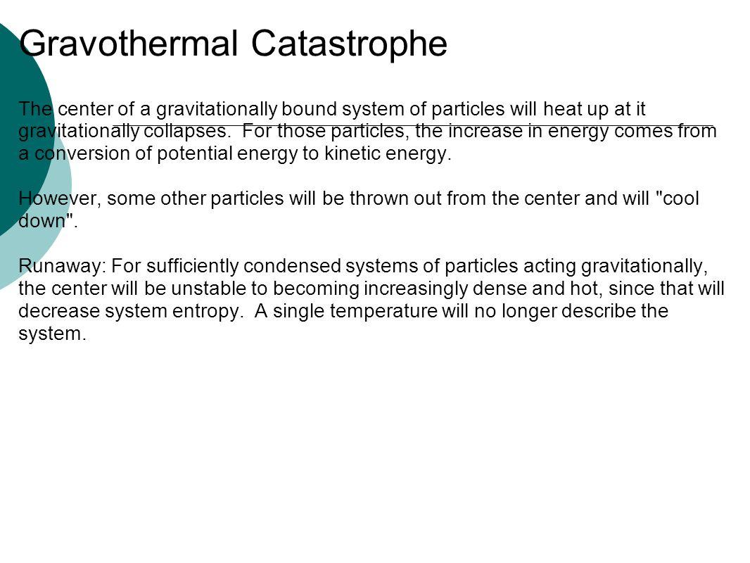 Gravothermal Catastrophe