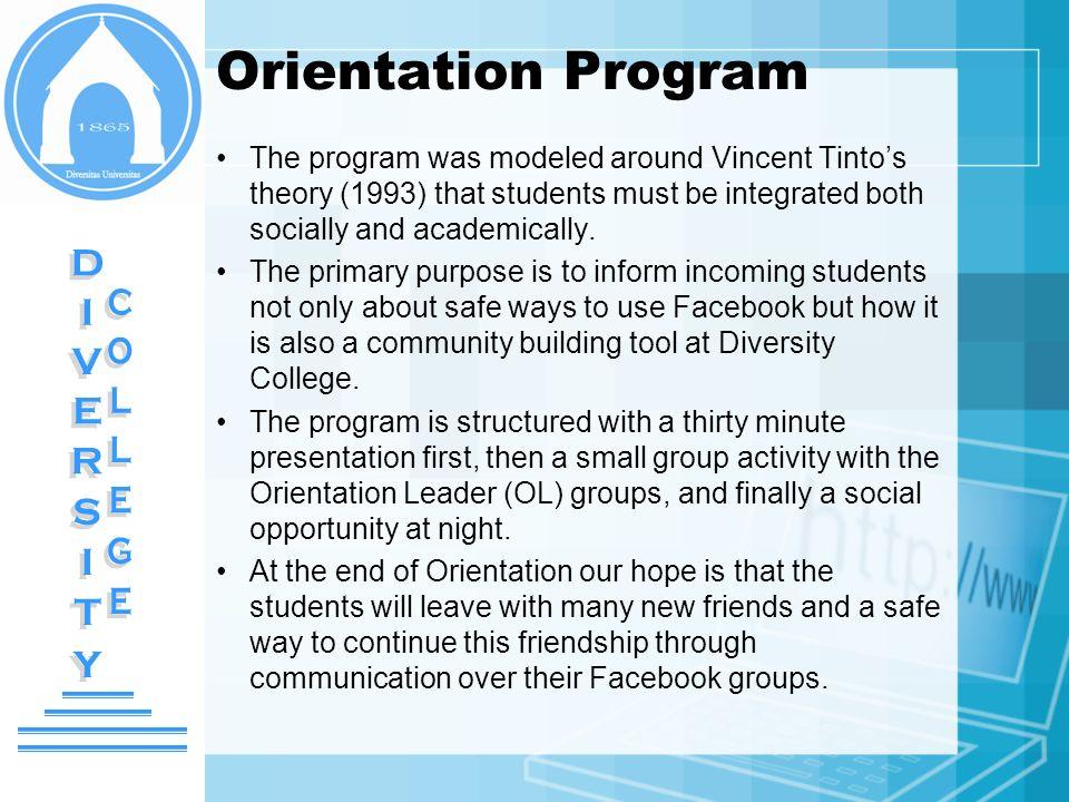 Orientation Program DIVERSITY DIVERSITY COLLEGE COLLEGE