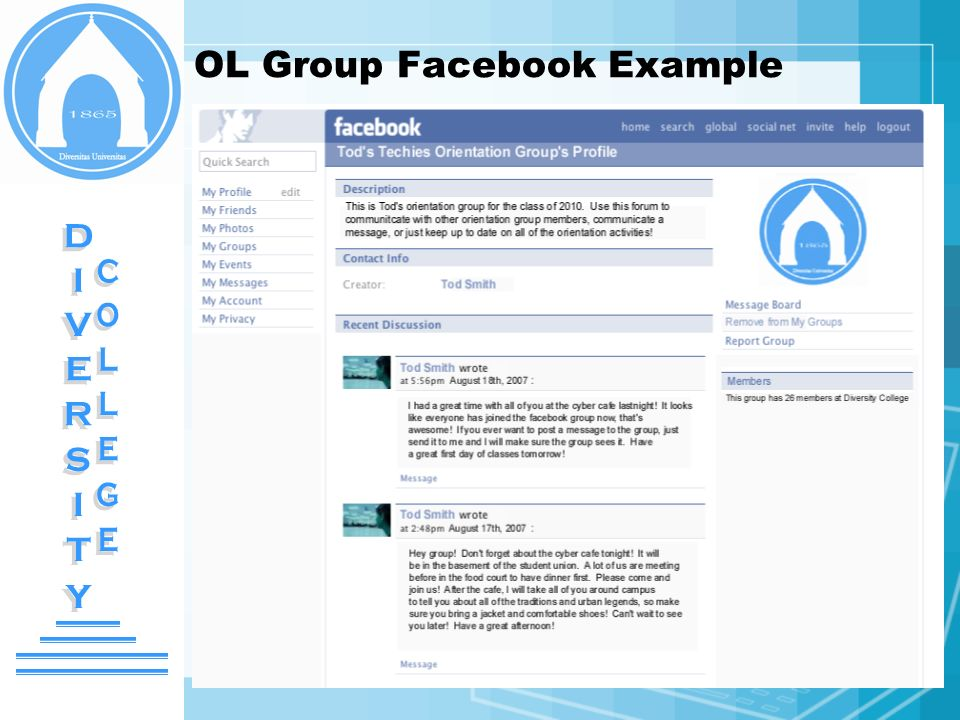 OL Group Facebook Example
