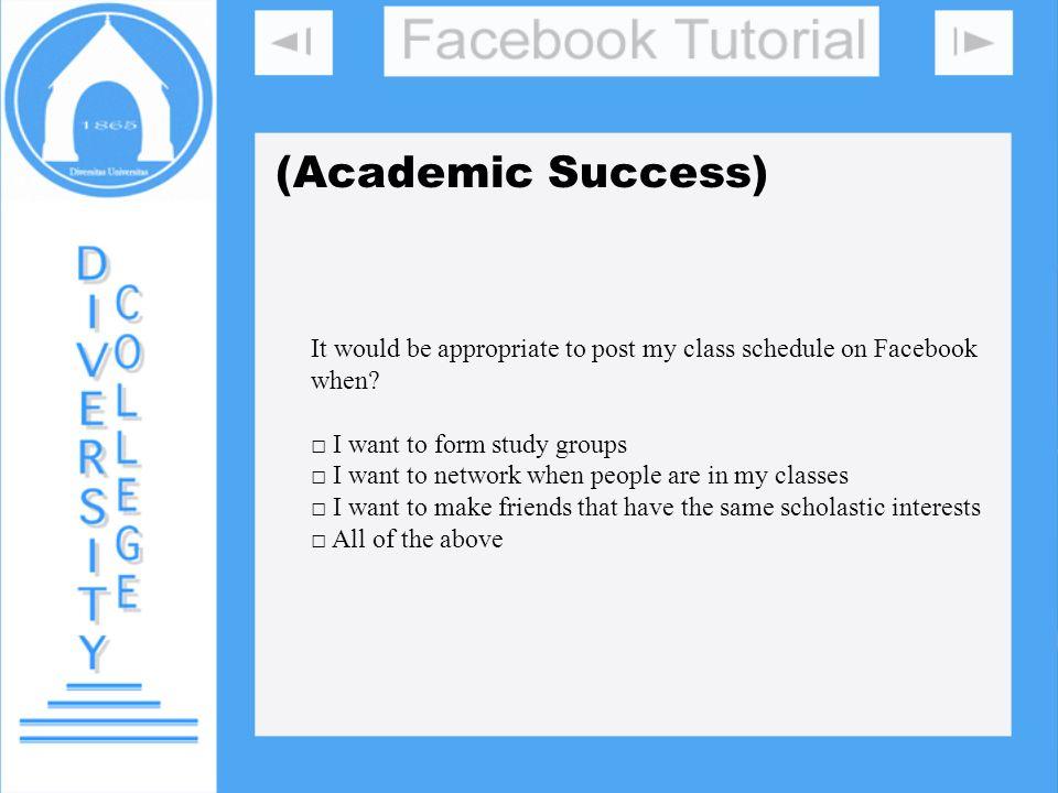 DIVERSITY COLLEGE (Academic Success)