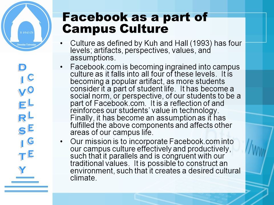 Facebook as a part of Campus Culture