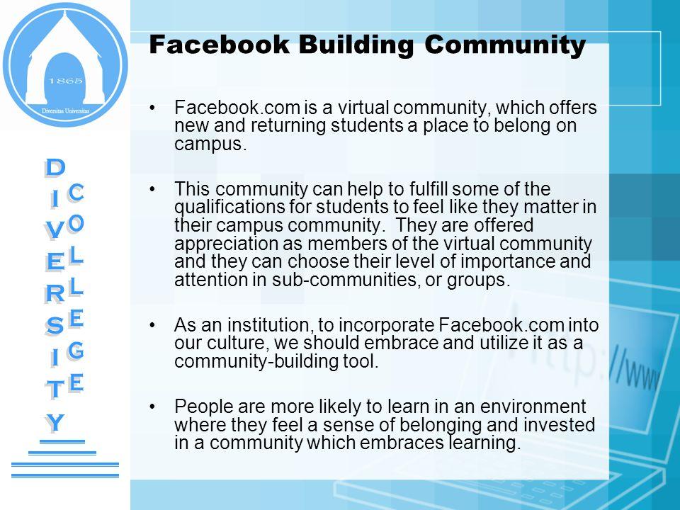 Facebook Building Community