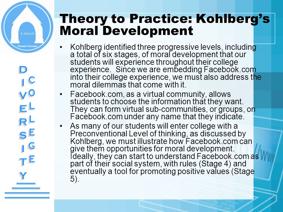 Theory to Practice: Kohlberg's Moral Development