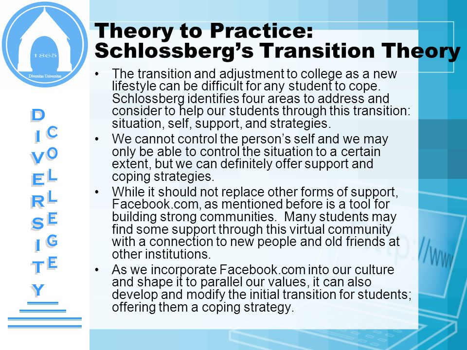 Theory to Practice: Schlossberg's Transition Theory