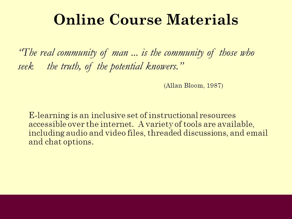 Online Course Materials