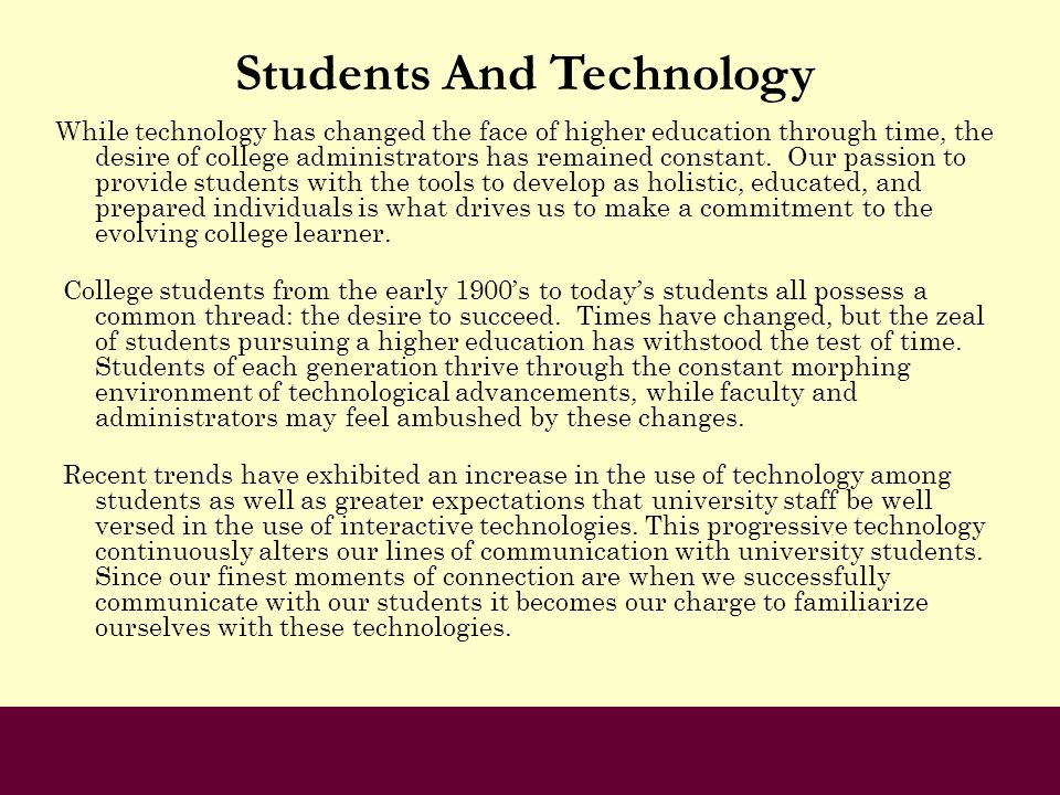 Students And Technology