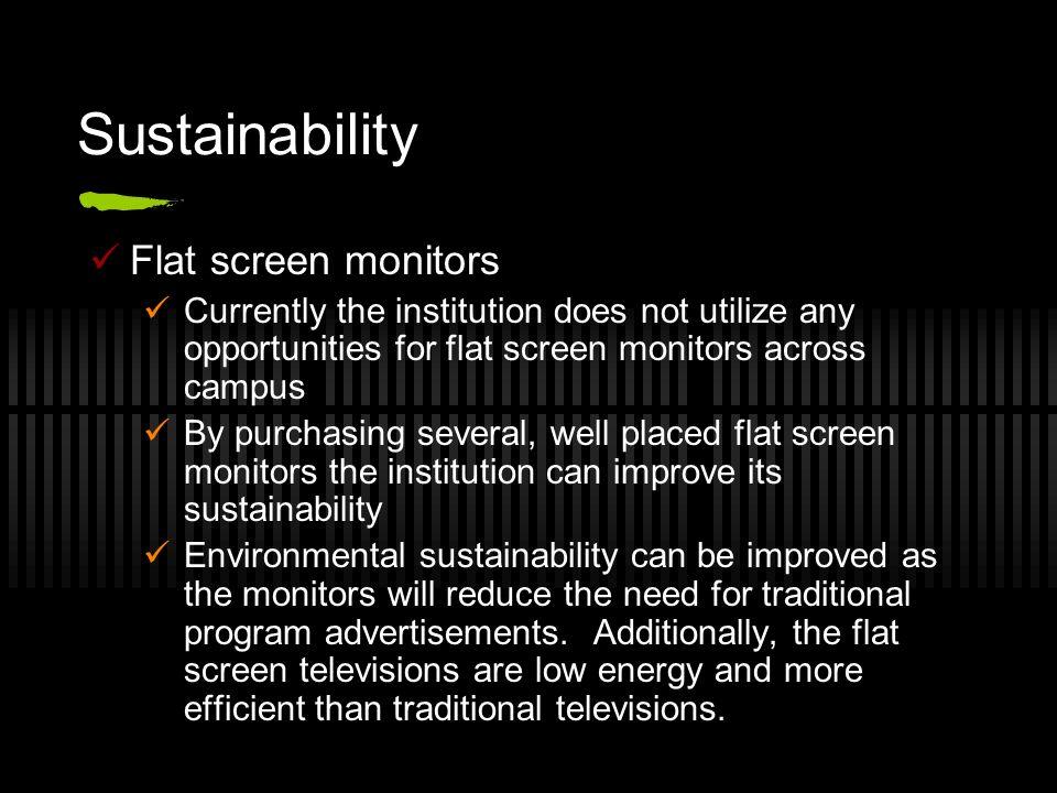 Sustainability Flat screen monitors