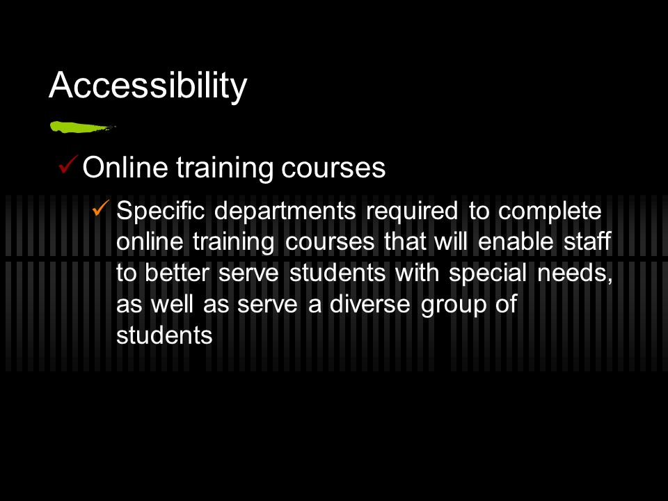 Accessibility Online training courses