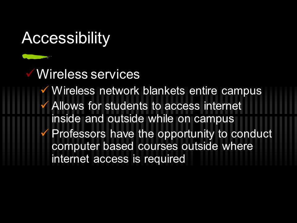 Accessibility Wireless services