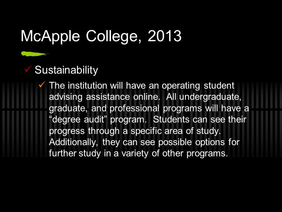 McApple College, 2013 Sustainability