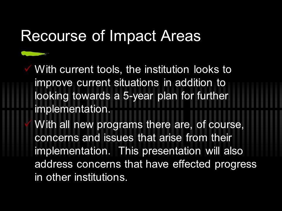 Recourse of Impact Areas