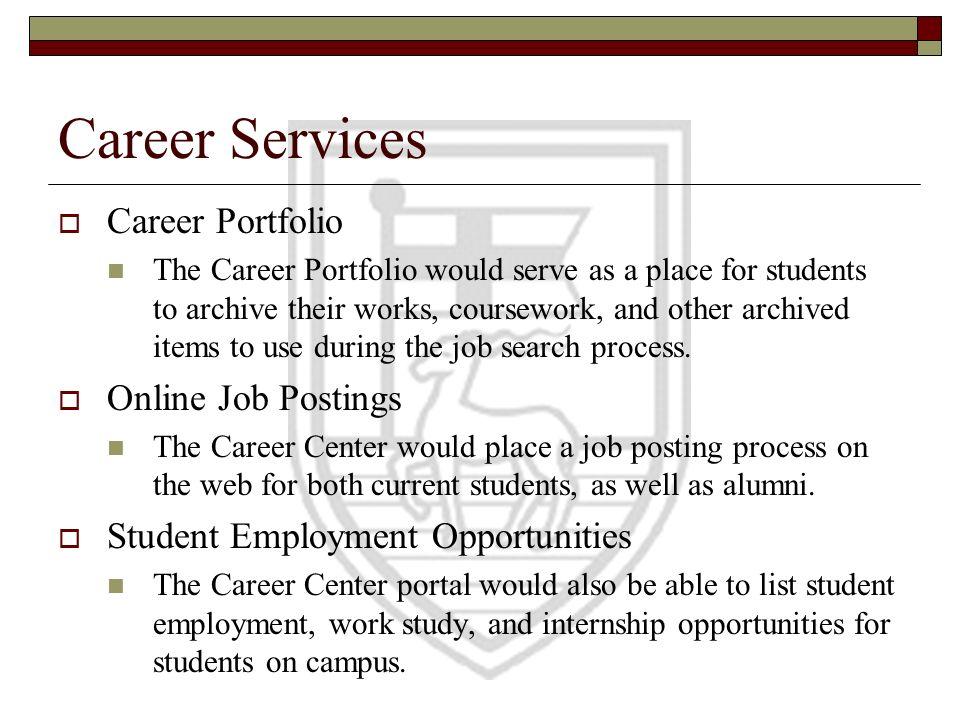 Career Services Career Portfolio Online Job Postings
