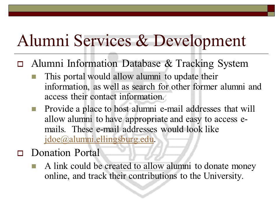 Alumni Services & Development