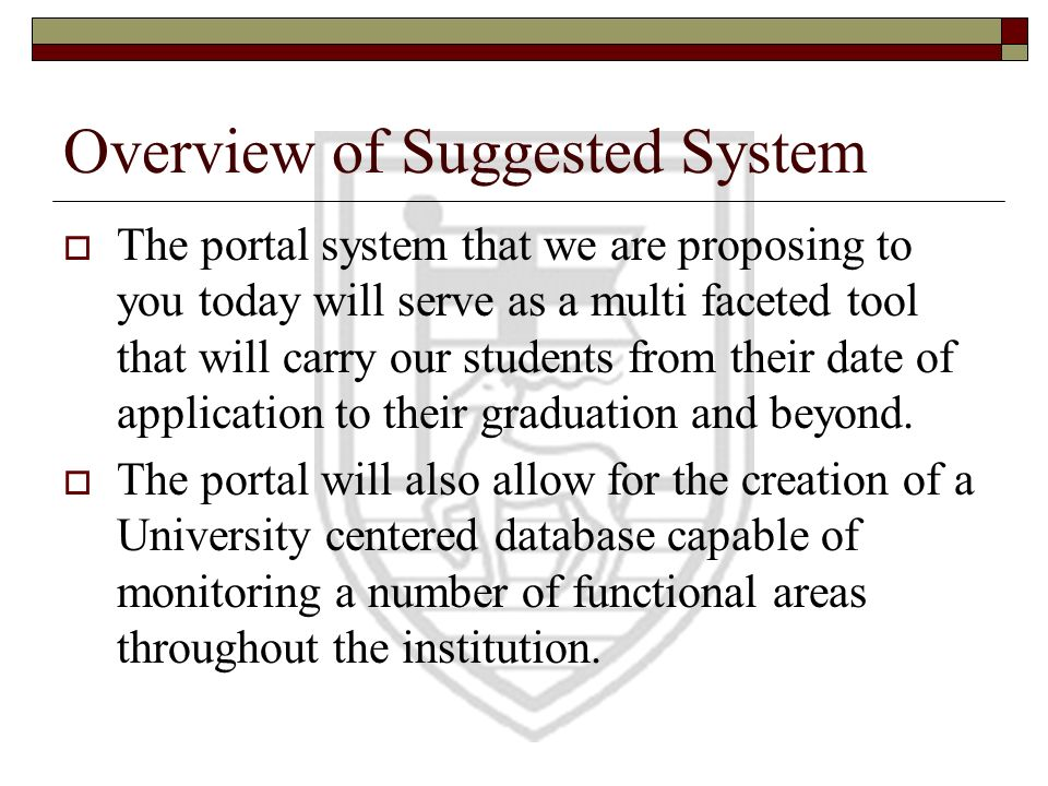 Overview of Suggested System