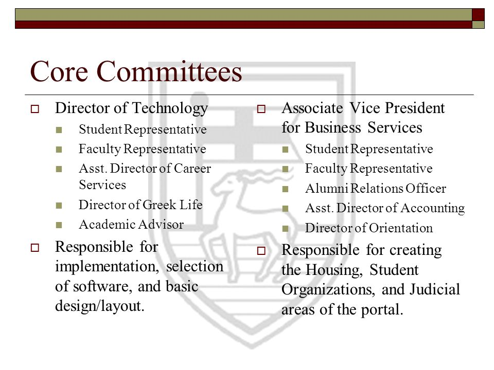Core Committees Director of Technology