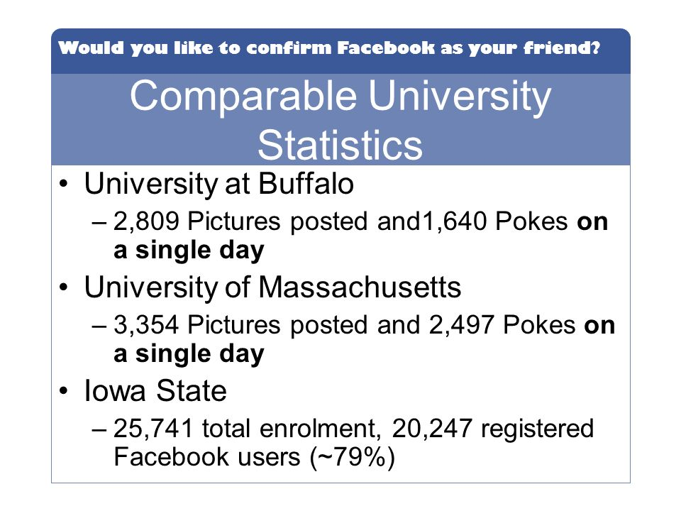 Comparable University Statistics