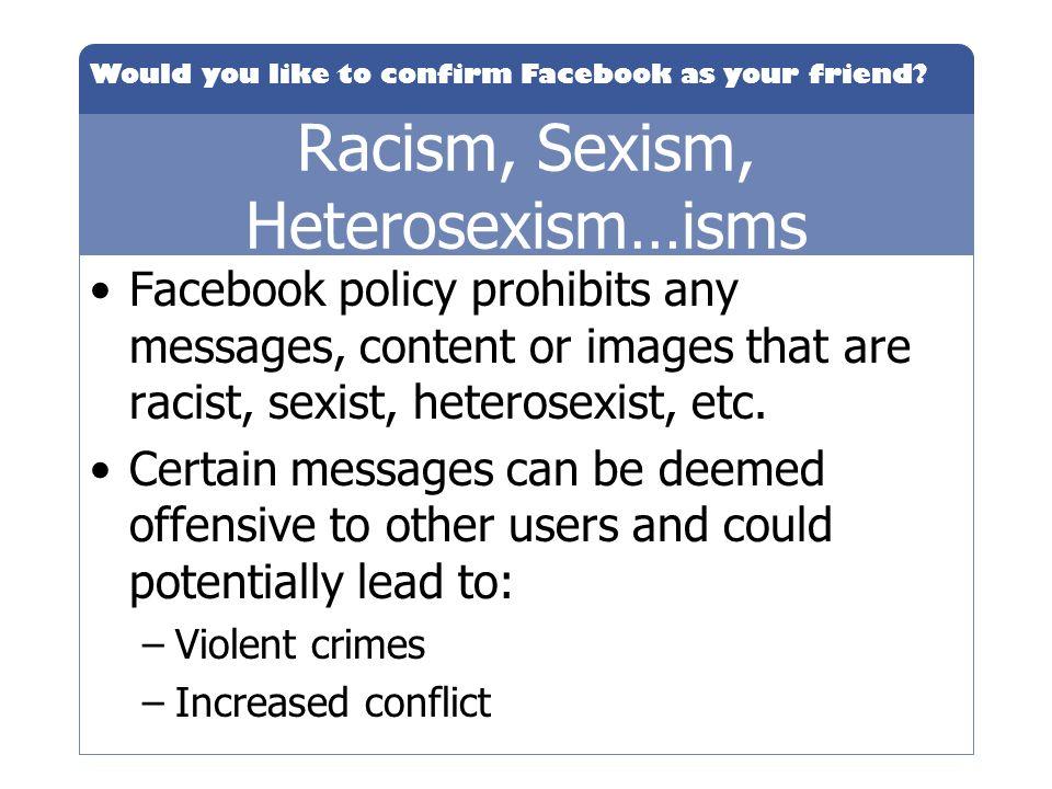 Racism, Sexism, Heterosexism…isms